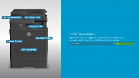 Dell Printer Microsite - Header Image